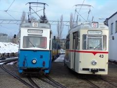Tw 39 und Zug 43-93, Wagenhalle