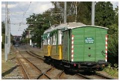 Historischer Gepäckbeiwagen Nr. 101 der Thüringerwaldbahn, gezogen von Htw. 56 und Hbw. 82 am 12.09.2004 (c) Knebel