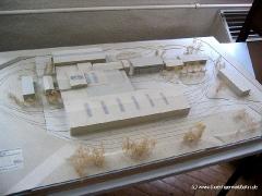 ...und einem Architekturmodell des Betriebshofs und der Wagenhalle. (c) Kutting