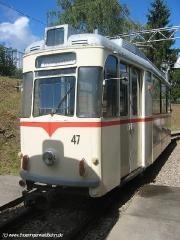 TW 47 auf den Gleisen neben der Wagenhalle (c) Kutting