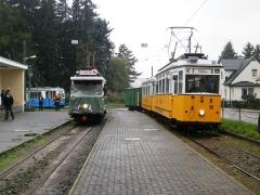 Historischer Zug 56-82-101  undTw 7 (SVZ), Tabarz, 21.09.2014, (c) Schneider