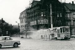 Tw 303+302, Hersdorfplatz, 1989, Slg. D. Kirchberger
