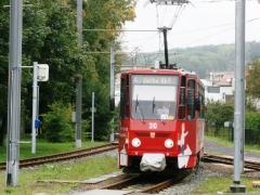 Tw 310II, Waltershausen-Gleisdreieck, 21.09.2014, (c) Schneider
