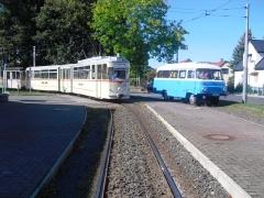 HTw 215 mit Zwickauer LO-Bus, Tabarz, 01.10.2011 (C) Schneider