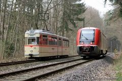 Waldbahn-Begegnung | Tw 215, DB 641 036 | (c) U. Kutting