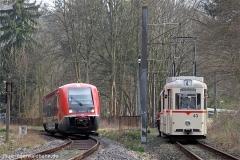 Doppelausfahrt in Reinhardsbrunn | Tw 73, Bw 93, DB 641 036 | (c) U. Kutting