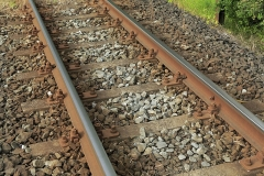 Straßenbahnbetonschwellengleis