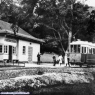 Haltestelle um 1940