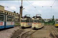 Triebwagen 203 und Triebwagen 207. (4. Juli 1991)