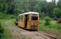 Werkstattwagen 008 am Boxberg. (4. Juli 1991)