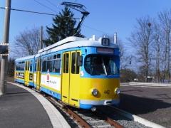 Tw 442, Waltershausen-Gleisdreieck, 29.03.2014