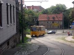 Tw 319 Gotha: Ri. Ostbf. erklimmt den Nelkenberg, 14.08.2010