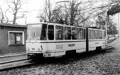 Der KT4D 302 war am 19.2.1989 auf der Pendelstrecke Waltershausen - Gleisdreieck im Einsatz. (19. Februar 1989)