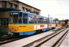 Triebwagen 306 im Depot. (7. August 1997)