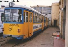 Triebwagen 396 auch im Depot. (7. August 1997)