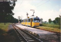 Triebwagen 401 am Boxberg. (7. August 1997)