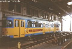 Triebwagen 579 im Depot. (7. August 1997)