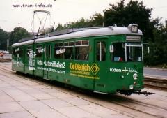 Triebwagen 592 am Hauptbahnhof. (7. August 1997)