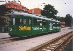 """Triebwagen 592. Der """"Gegenschuß"""". (7. August 1997)"""