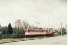 Tw 590,Atw 010 Fahrleitungsregulierung mit ex Bochumer Wagen 27.3.1995