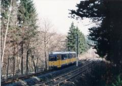 Tw 592 Fahrschule,Schnepfenthal-Reinhardsbrunner Teiche 21.4.1995