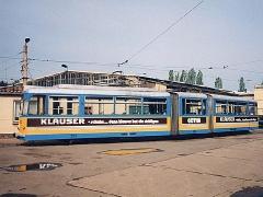 Triebwagen 202 auf dem Betriebshof. (2.5.1994)