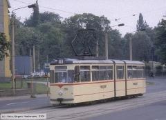 Triebwagen 208, Gotha 208 - G4-61, Aufnahmeort: Bertha-von-Suttner-Platz, Hersteller: Gotha/LEW, 1967 (Serie 207-209), (22.05.1990)