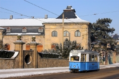 Tw 39 vor der Orangerie. (Foto-Sonderfahrt 29.1.2005)