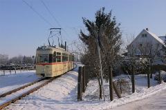 Gelenkzug 215 in Waltershausen. (Foto-Sonderfahrt 29.1.2005)