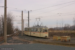 Gleisdreieck in Waltershausen, TW 215. (FoSoFa 2007)