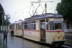 Tw 47, ET57 Gotha 1963, Linie: 4, Wendeschleife und Endhaltestelle Tabarz. (10.1967, Earl W. Clark, Jr. Photo)