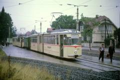 Tw 212 G4-61 Gotha 1967, Linie: 4, Schleife Tabarz mit Güter-Abw, (10.1967, Earl W. Clark, Jr. Photo)