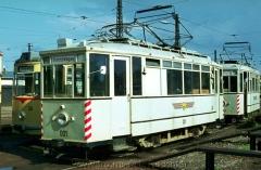 ATw 001 Gotha 1927 (65), im Freigelände des Depots Waltershäuser Straße. (14.8.1968, Ron Copson Photo)