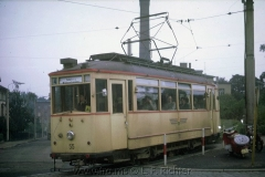 Tw 55, Gotha 1929, Linie: 4, Richtung: WALTERSHAUSEN, ausfahrend aus Schleife Hauptbahnhof, (10.1967, Earl W. Clark, Jr. Photo)
