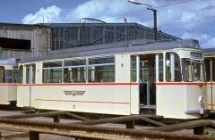Tw 37, T2D CKD 1967, im Freigelände des Depots Waltershäuser Straße. (5.1968, Wolfgang Schreiner Photo)