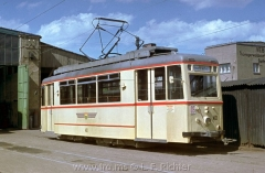 Tw 40, ET55 Gotha 1955, im Freigelände des Depots Waltershäuser Straße. (5.1968, Klaus Otto Photo)