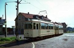 Tw 55, Gotha 1929, Linie: 4, Richtung: Gotha, Schöne Aussicht, (14.8.1968, Ron Copson Photo)