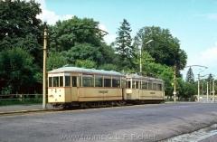 Tw 81 Gotha 1928, Linie: 4, Richtung: WALTERSHAUSEN, am Hauptbahnhof, (14.8.1968, Ron Copson Photo)
