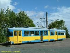 Triebwagen 528 am Gleisdreick. (12.9.2004)