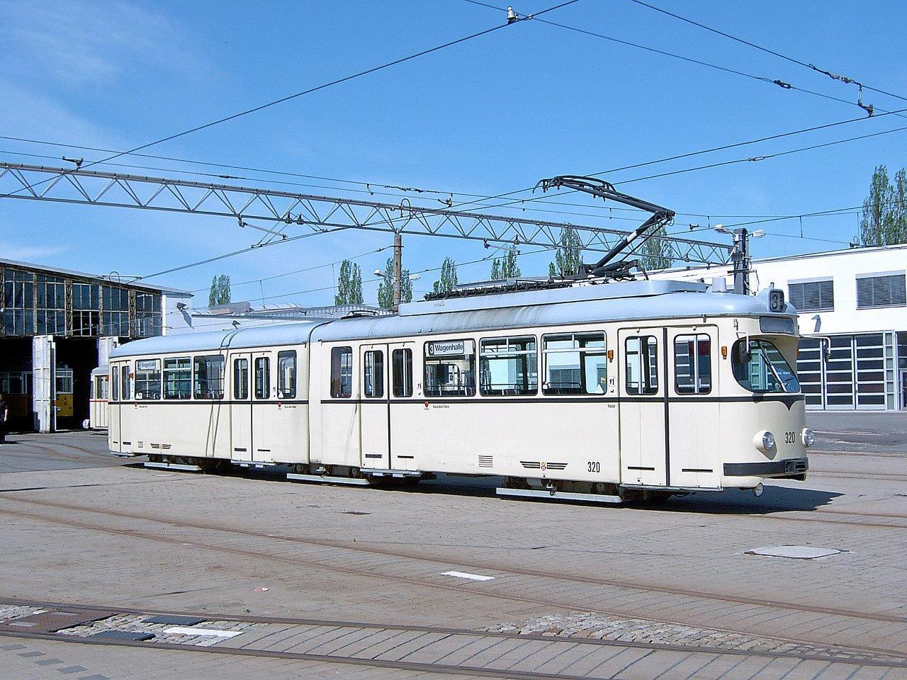 GT6 320 (DUEWAG 1960) ex Mannheim 320, ex Heidelberg 203, 2006 an Privat verkauft und 2012 verschrottet.