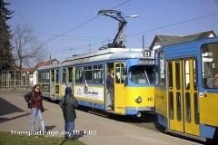 Triebwagen 442. Doppeltraktion mit GT6ER und KT4D? (10. April 2002)