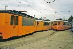Betriebshof. Arbeitstriebwagen. (zwischen 1991 und 1994)