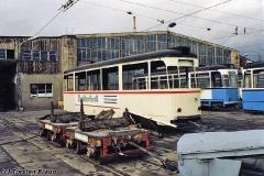 Beiwagen 78 während der Verschrottung. (zwischen 1991 und 1994)
