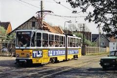 Triebwagen 306 am Nelkenberg. (zwischen 1992 und 1994)