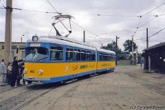 Triebwagen 442 auf dem Betriebshof. (zwischen 1991 und 1994)