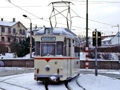 Zugzielanzeige am TW 47, extragroß! (29. Januar 2005)