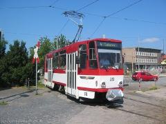 TW 313 in der Wendeschleife am Hbf.