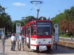 TW 314 an der Hst Hauptbahnhof.