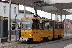 Triebwagen 319 am Hauptbahnhof. (31.12.2011)