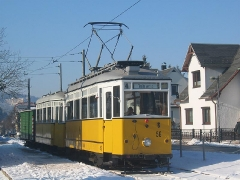 Fotosonderfahrt 01/2006. Der Traditionszug an der Endhaltestelle Tabarz. (28. Januar 2006)